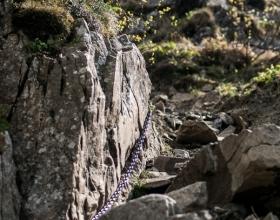 Babia Góra - łańcuchy na Akademickiej Perci